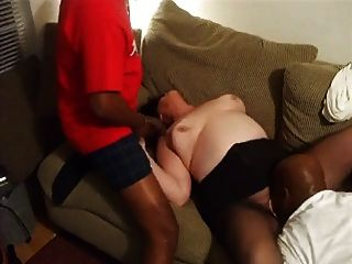 reifer Amateur bbw in interracial Dreier 1