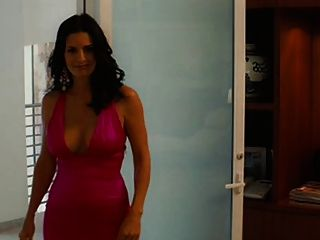 Courtney Cox große Titten in einem schönen Kleid