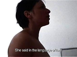 haarige Susanne sachsse mit kleinen leeren Saggy Titties