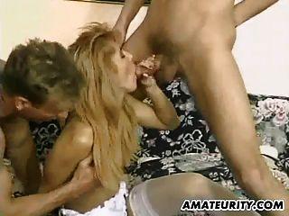 Amateur Freundin anal Doppel Penetration und Gesichtsbehandlung