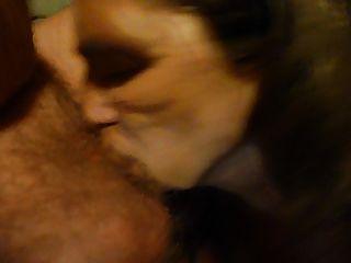 saugen meinen Mann Hahn mit Sperma in meinen Mund