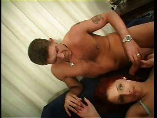 britische Schlampe tia skeats wird in einem fmm threesome gefickt