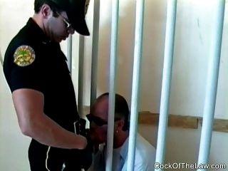 Homosexueller Polizist hatte eine Kruste auf kriminellen Macho