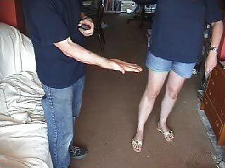 Palme Leder Sandale Spanking