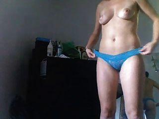 Amateur Frau nach Dusche