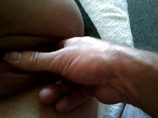 Gurke in meine Schlampen Pussy Masturbation Dildo