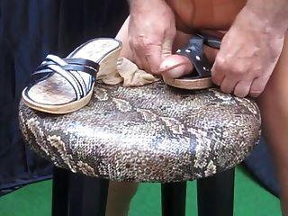 cumshot heels nylon footjob strümpfe x31