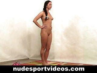sexy Amateur Mädchen Fitness Fitness Übungen