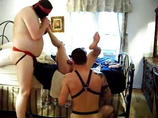 weißer Master Bareback 3 Sklaven