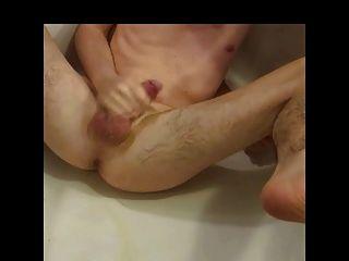 masturbieren mit ballon, vibrator und cumshot