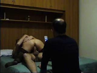 Amateur Italiener Cuckold Dreharbeiten seine Frau