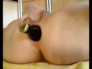 Amateur heiße Pussy \u0026 Arsch Flasche ficken