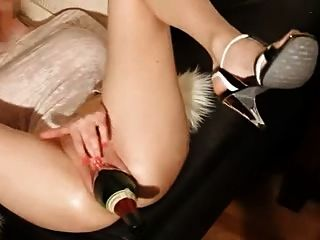 Amateur große Flasche \u0026 Faustfick