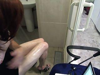 sexy Bein war in Fersen