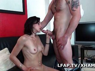 jeune brunette francaise se fait defoncer le cul