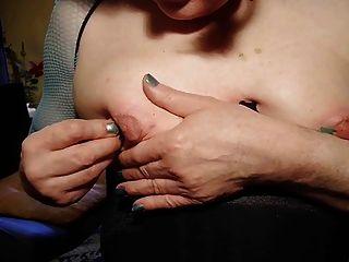 Nadeln langsam in Nippeln und aus amateur