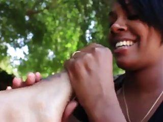 lesbische Ebenholz Fuß Anbetung