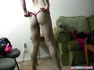 sexy ex Freundin tina tanzen im String