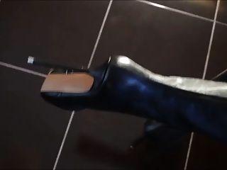 Overknee Stiefel mit extremen High Heels