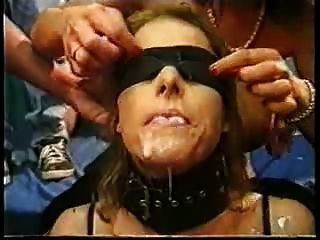 blindfold bukkake slave part2