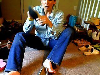 wähle die stinkenden Schuhe aus