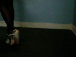 High Heels Sandalen und Nylon Füße
