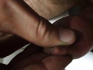 Sperma in Vorhaut große dicke cum Last