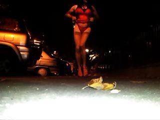 sexy Show auf der Straße
