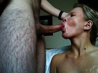 corrida en la cara, Sperma in ihrem Gesicht