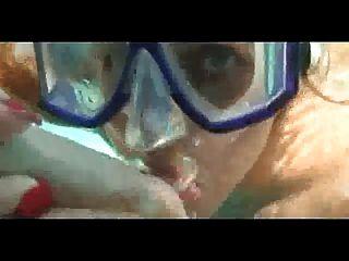 Bernstein Lynn Bach Unterwasser Blowjob