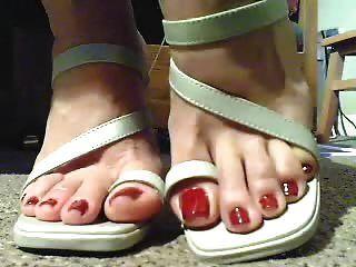 toeloop Schuhe mit schönen Füßen
