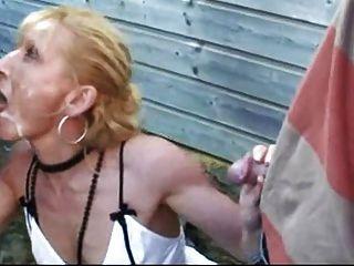 Französisch Hooker nimmt viel Sperma