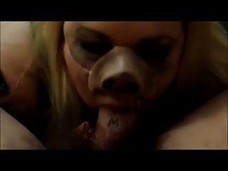 Fett Schwein bläst deinen Meister
