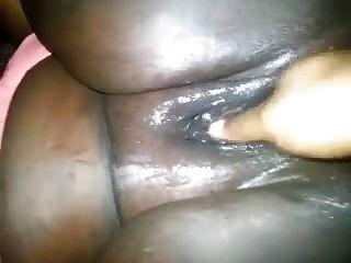 Fett schwarze Pussy Fingersatz