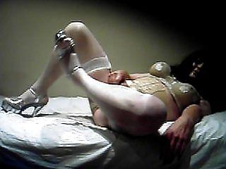 transik High Heels und weißer Strumpf 1