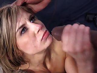 Chloe Chaos bekommt ihr Gesicht voller Sperma von bbc