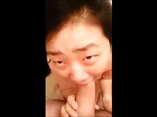 koreanischen deepthroating einen weißen Kerl