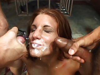 Hot Cum Liebhaber bekommt ihr Gesicht bedeckt