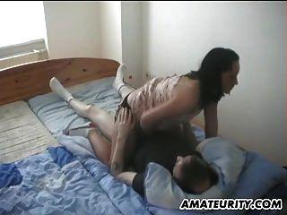 Amateur Freundin Blowjob, Handjob und fuck zu Hause