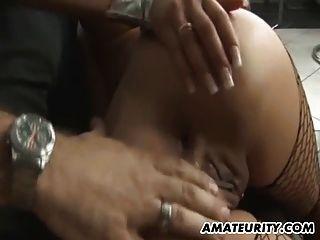 Busty Amateur Teen Freundin Anal Fick mit Sperma auf Arsch