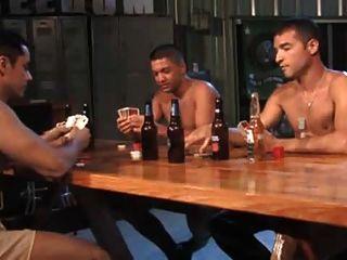 Armee Streifen Poker Dreier.