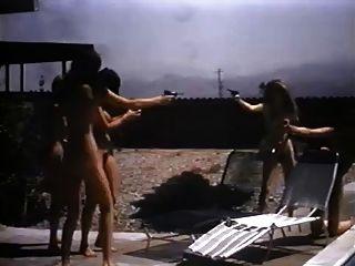 fünf vintage nudist babes spielen herum