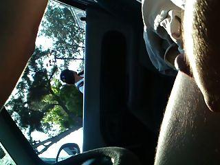 blinken und cum im auto