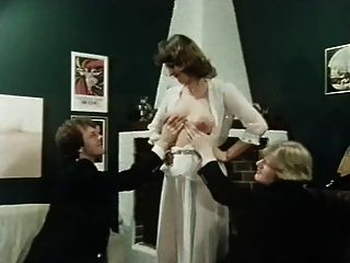 Vintage haarige Pussy unter schierem Kleid