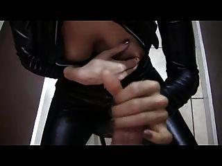 Stiefel Catsuit Blowjob Cumshot