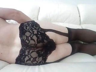 sexy Strümpfe mit Butt Plug und Cumshot