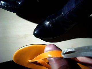 stiefel angespritzt auf Stiefel