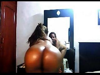 vollkommener Arsch auf Webcam