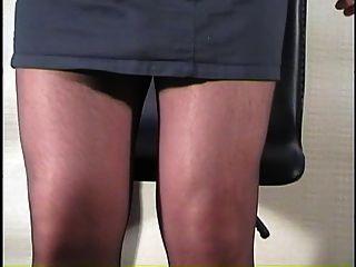 Strumpfhose auf Stuhl