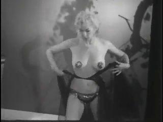 Vintage Stripper Film Rock und Socke